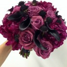 Peony and Rose Bridal or Bridesmaid Bouquet Fuchsia