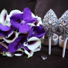 Purple Vanda Orchid and Picasso Calla Lily Bridal Bouquet by NYC Floral Designer Blank Slate Events photo by Jerritt Clark