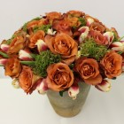 Rustic Design of Two Dozen Roses